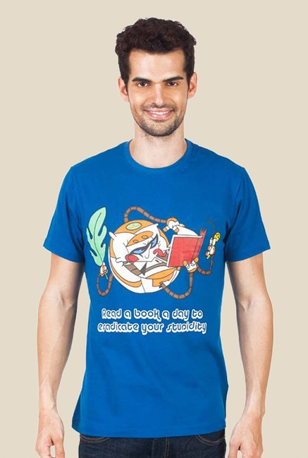 Dexter Book A Day Dark Blue Graphic T-shirt