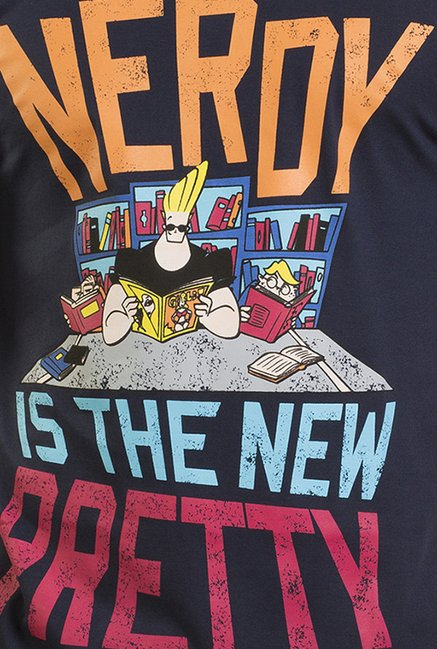Johnny Bravo The Nerd Navy Graphic T-shirt