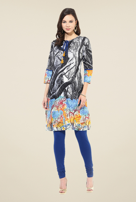 Shree Multicolor Cotton Printed Kurti