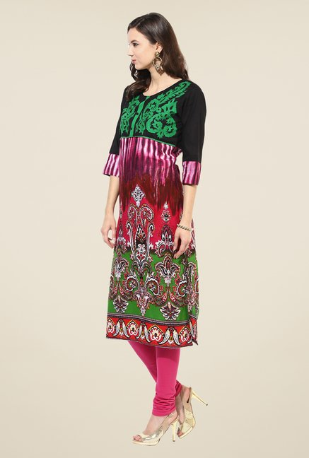 Shree Multicolor Cotton Printed Kurta