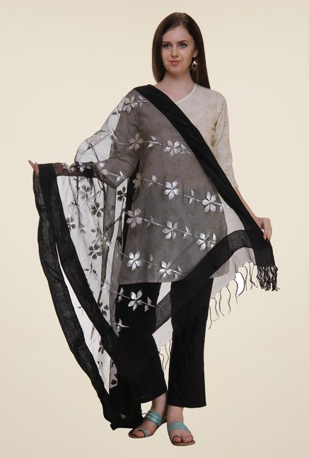 Shree Black Polyester Dupatta