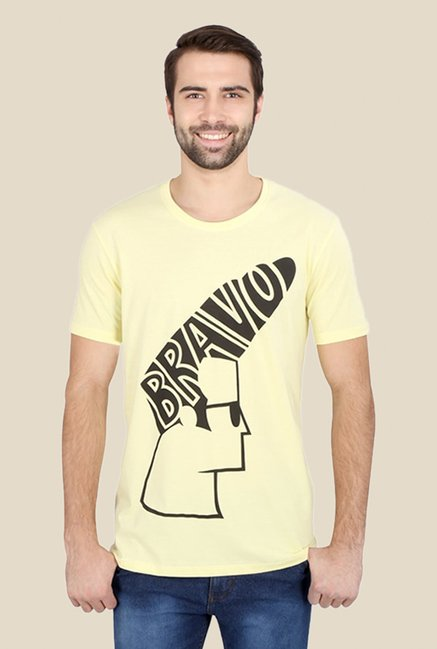 Johnny Bravo The Hair Do Yellow Graphic T-shirt