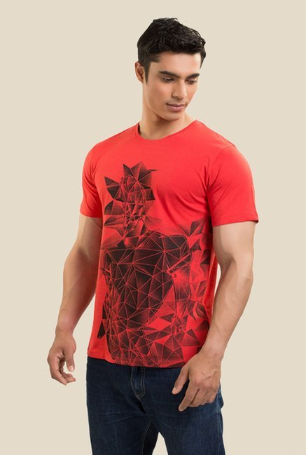 Johnny Bravo The Diamond Boy Coral Graphic T-shirt