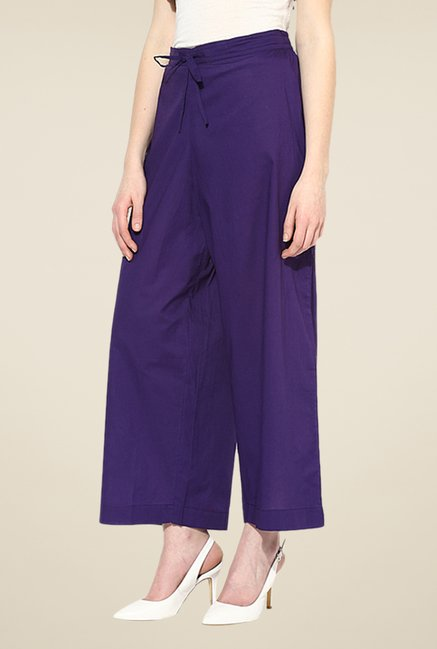Shree Purple Cotton Palazzos