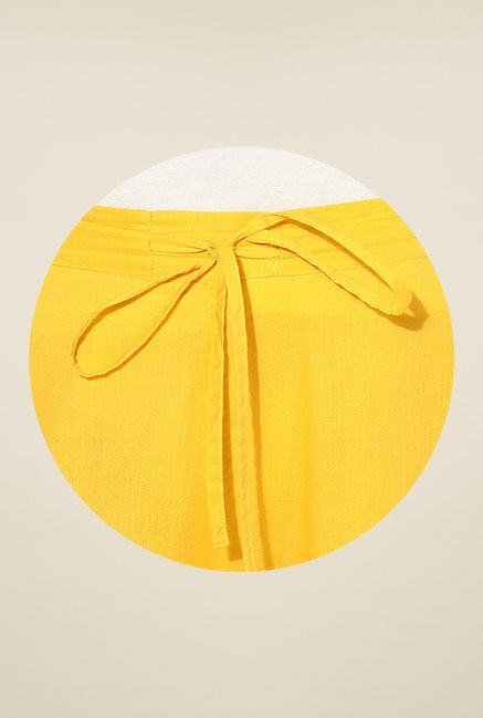 Shree Yellow Cotton Palazzos