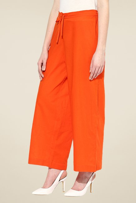 Shree Orange Cotton Palazzos
