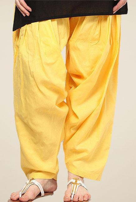 Shree Yellow Cotton Patiala Salwar