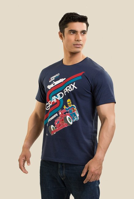 Simpsons Springfield F1 Navy Graphic T-shirt