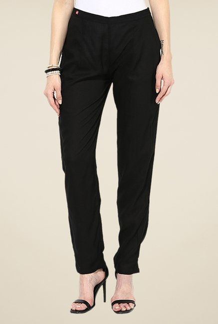Shree Black Rayon Trousers