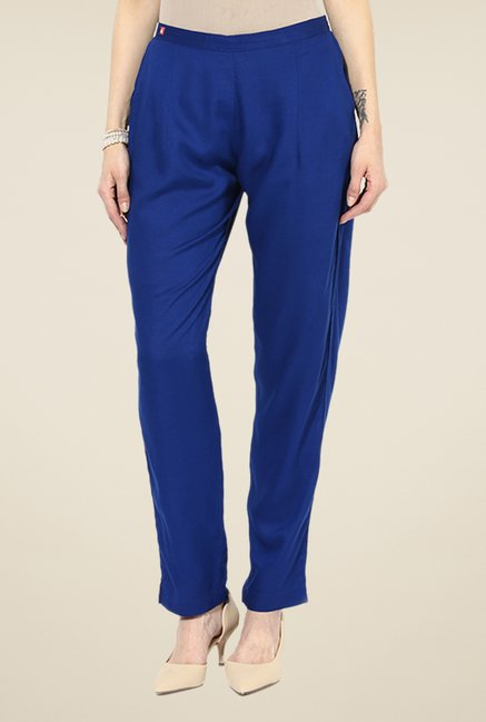 Shree Blue Rayon Trousers
