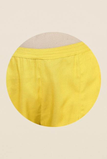 Shree Yellow Rayon Trousers
