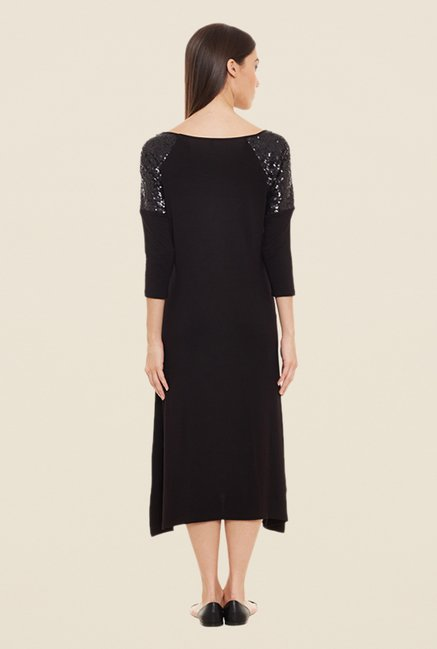 Femella Black Midi Dress