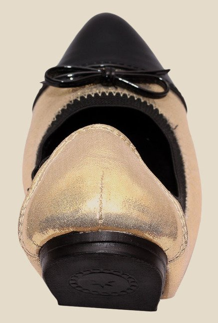 Global Step Golden & Black Flat Ballets