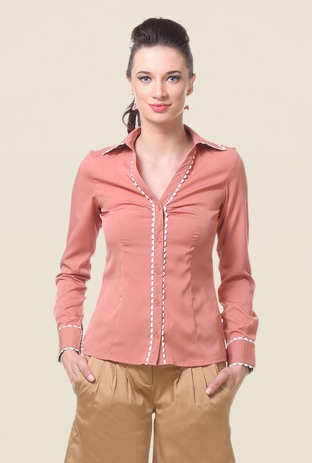 Kaaryah Blush Pink Solid Shirt