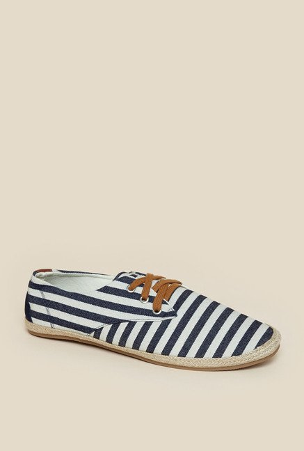 Zudio Navy & White Espadrille Shoes