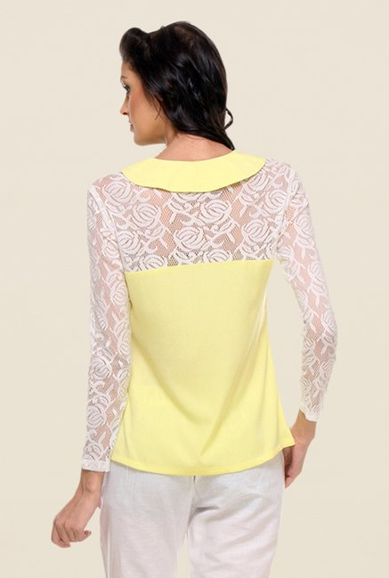 Kaaryah Yellow Lace Shirt