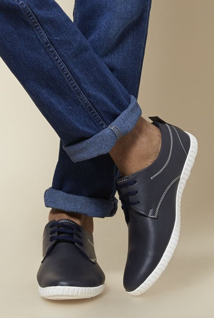 Zudio Navy Lace-up Shoes
