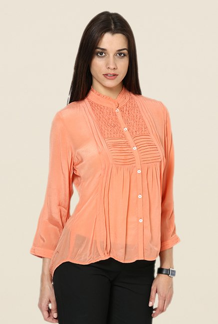 Kaaryah Orange Solid Shirt