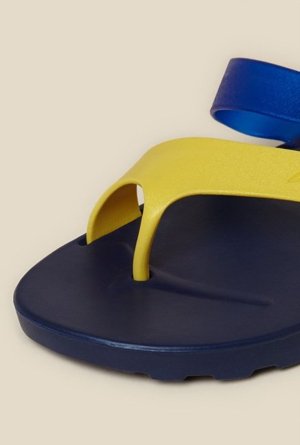 Zudio Blue & Yellow Thong Flip Flops