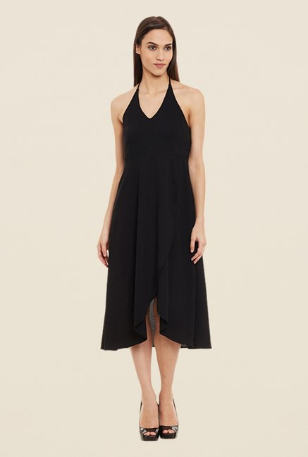 Femella Black Solid Dress