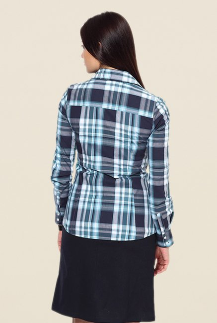 Kaaryah Blue Checks Shirt