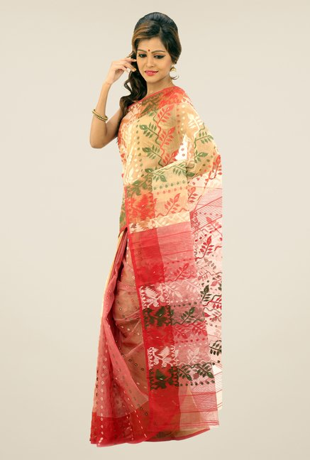 Bengal Handloom Multicolor Printed Silk Saree