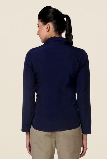 Kaaryah Navy Solid Shirt
