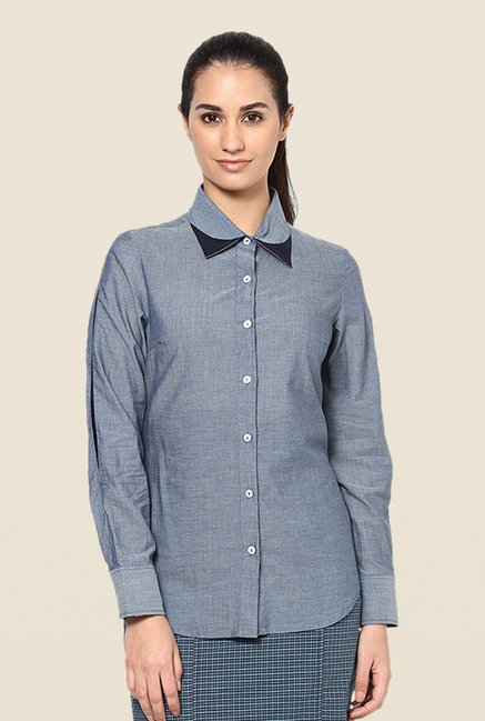 Kaaryah Grey Solid Shirt