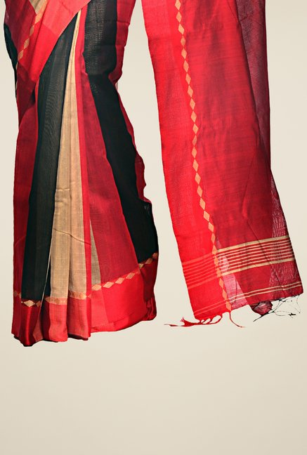 Bengal Handloom Multicolor Cotton Silk Striped Saree