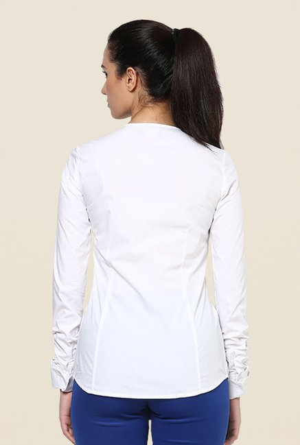 Kaaryah White Solid Shirt