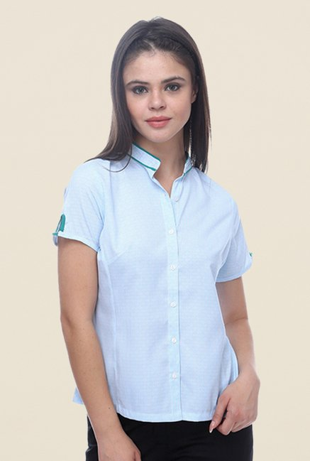 Kaaryah Blue Solid Shirt