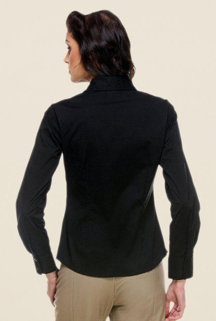 Kaaryah Black Solid Shirt