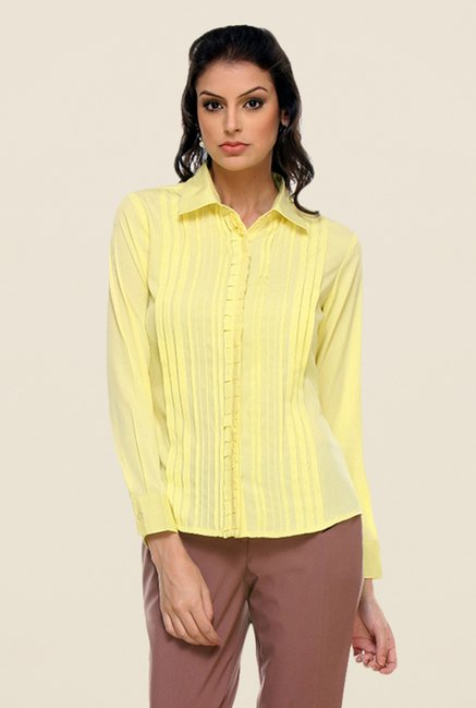 Kaaryah Lemon Solid Shirt