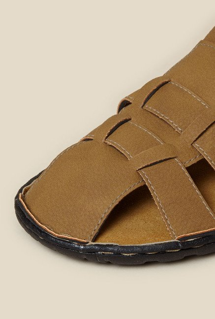 Zudio Tan Fisherman Sandals