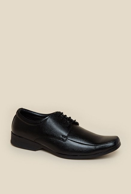 Zudio Black Derby Shoes