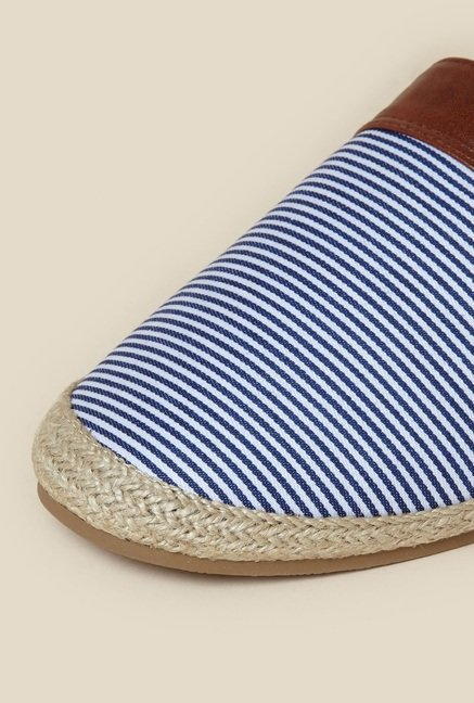 Zudio Blue & White Espadrille Shoes