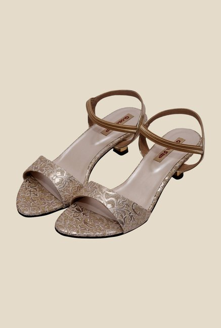 Global Step Golden Sling Back Sandals
