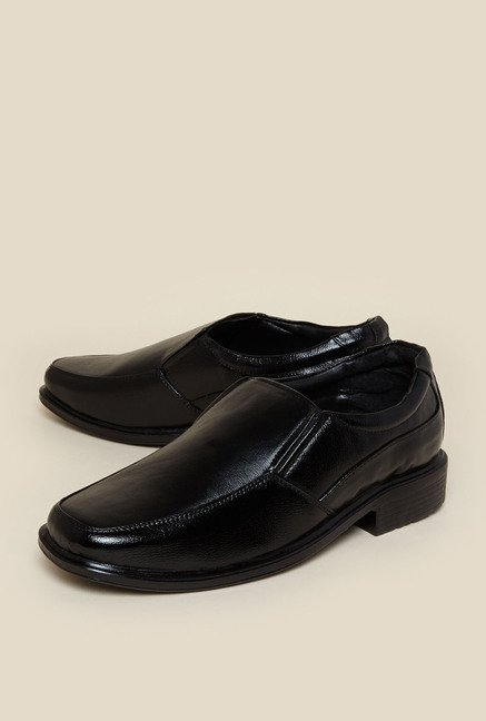 Zudio Black Loafer Shoes