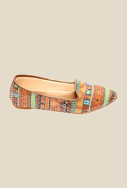 Global Step Multicoloured Ethnic Loafers