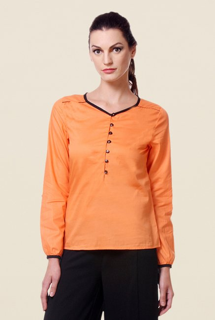 Kaaryah Orange Solid Top