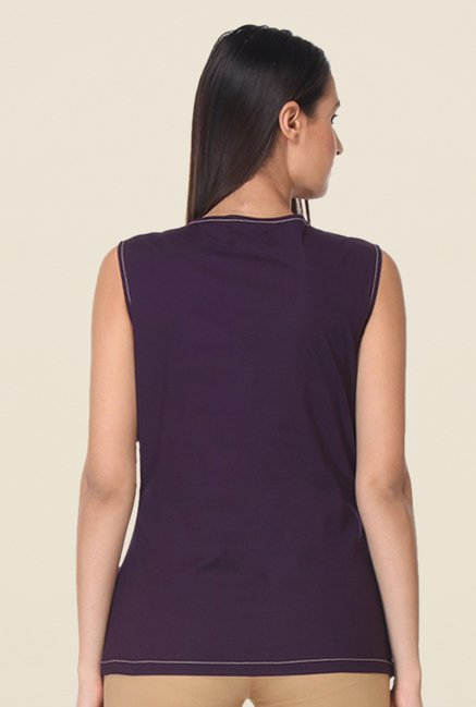 Kaaryah Purple Solid Top