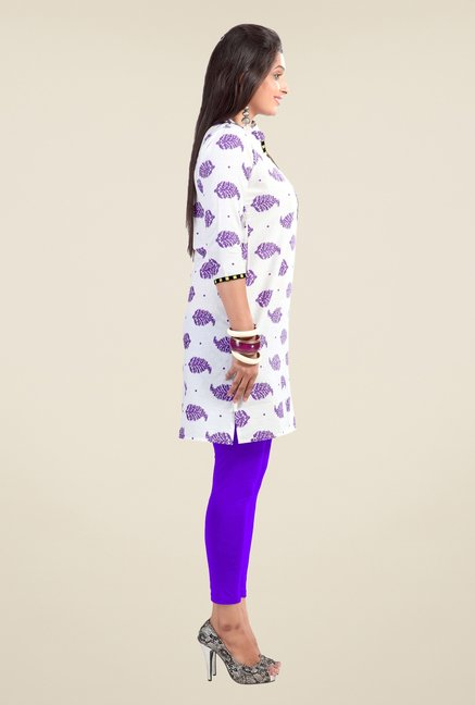 Triveni Off White Printed Kurta