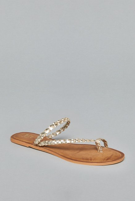 Head Over Heels by Westside Gold Flat Sandals