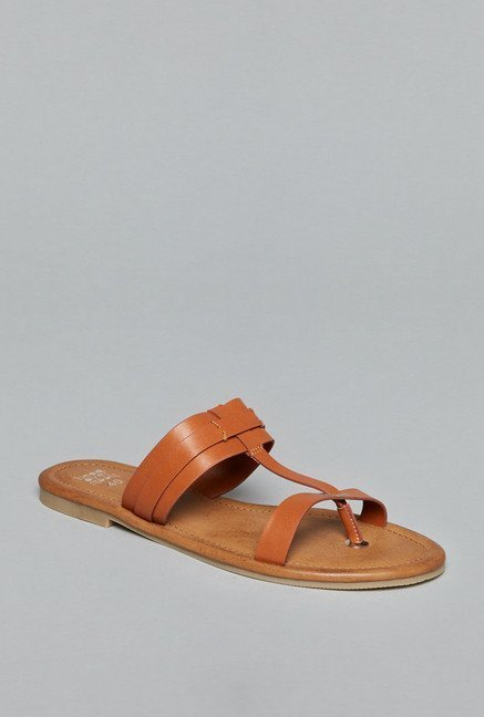 Head Over Heels by Westside Brown Flat Sandals