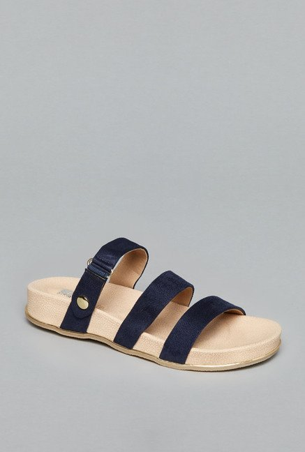 Head Over Heels by Westside Navy Slide Sandals