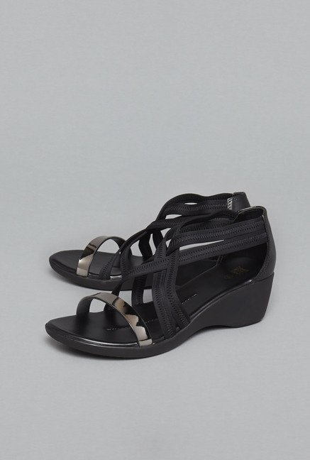 Head Over Heels by Westside Black Wedge Sandals
