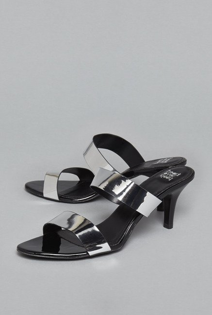 Head Over Heels by Westside Silver Stiletto Sandals