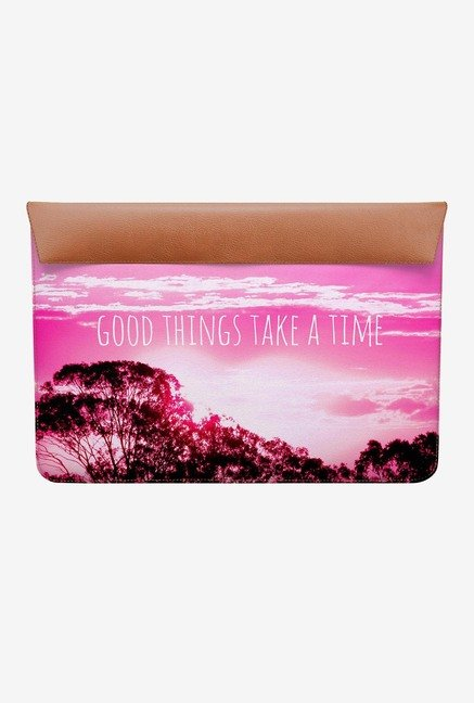 DailyObjects Things Take Time MacBook Air 13 Envelope Sleeve