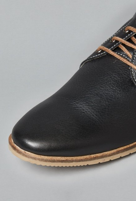 David Jones by Westside Black Derby Shoes