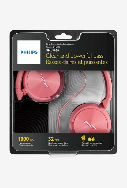 Philips SHL3060 On The Ear Headphones (Pink)